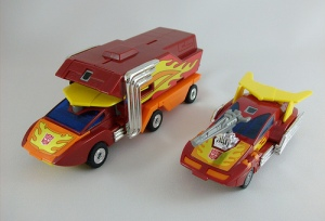 Rodimus Prime & Hot Rod (vehicle forms)