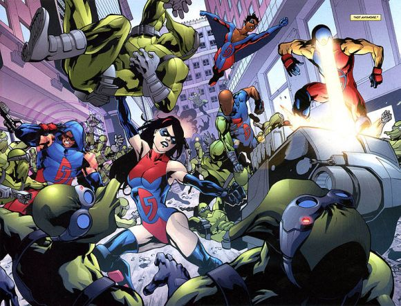 Dynamo 5 –– an original superhero team with unique abilities and real world problems.