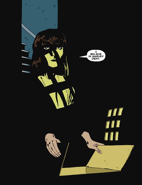 The final page of Jeph Loeb & Tim Sale's Batman: The Long Halloween.