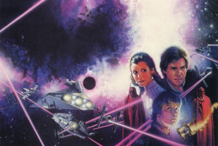 The cover artwork for Darksaber.
